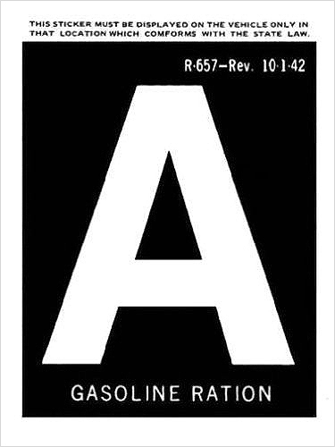 1942 Gas A-Ration Sticker